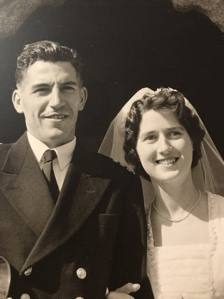 Jean and Ron on their wedding day 3rd September 1958