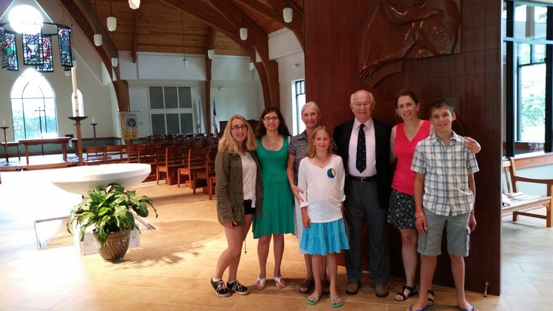 At Carol and Steve's church in Fayetteville, NC with some grandchildren.
