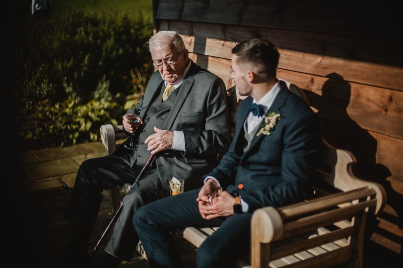 Grandad and me at my wedding a couple of years ago