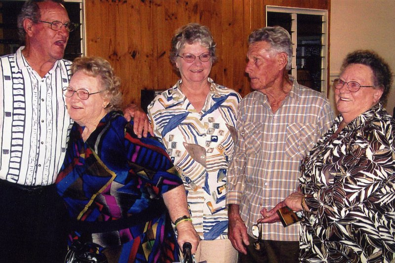 Happier times with her older Brother Uncle Ted who has now passed. and Aunty Marcelle, and Aunty Yvonne before sickness hit both of them.