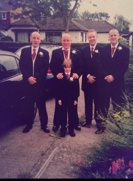 Proud day being the best man for Darren and Tanya on their big day with brothers Jamie and Ray