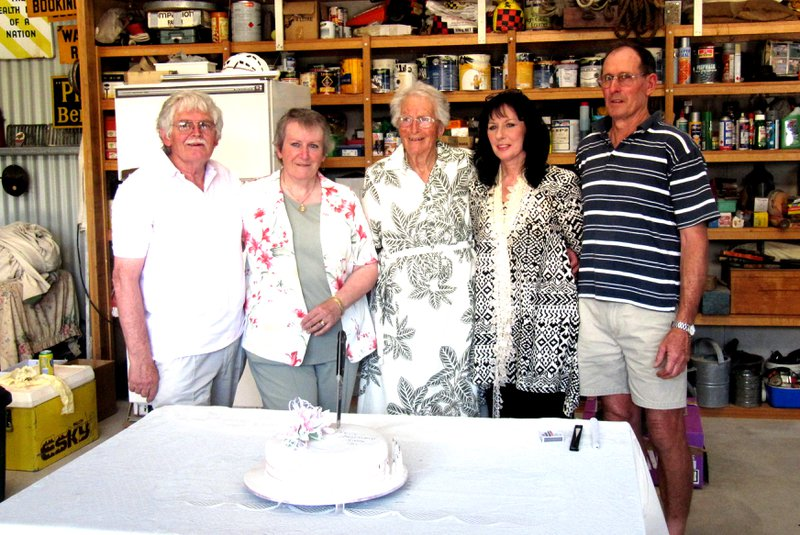 Barb's 90th birthday celebrations in 2011