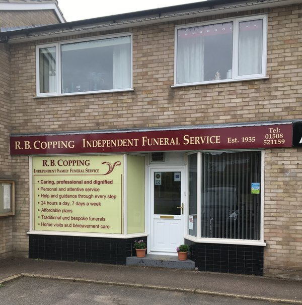 R. B. Copping Independent Family Funeral Service, Chedgrave, Norfolk, funeral director in Norfolk