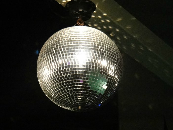 Photo of a disco light ball