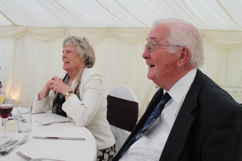 Dad & mum at wedding reception