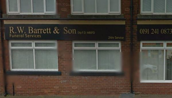 R.W Barrett & Son Funeral Services Ltd, West Road