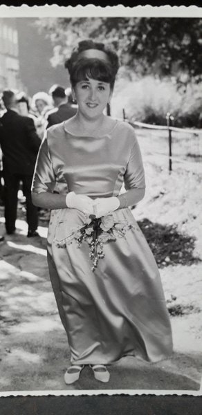 Glynis as a bridesmaid at our wedding in 1965
