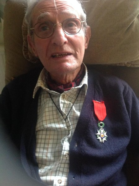 A very Happy Day - 93 and the Legion d'Honneur medal from the French