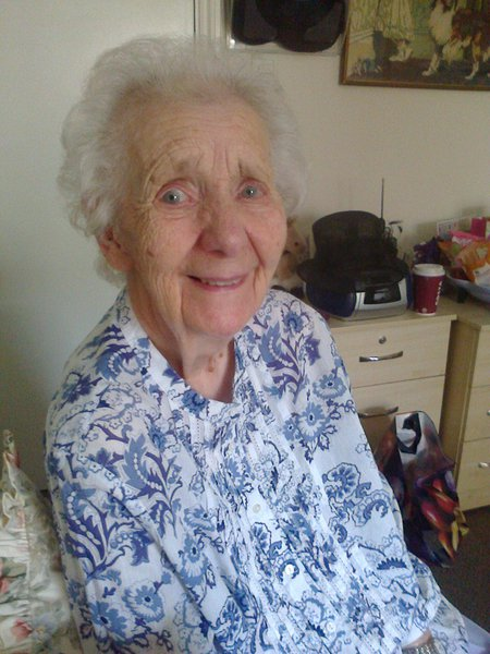 The last picture I took of mum smiling and looking directly into the camera.