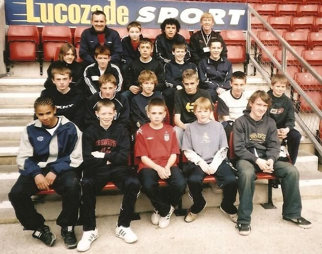 Peter started this team off as Under 7's in 1996 and he persuaded me to take over as manager. This is in 2004 when they were Under 15's and we went on an Easter tour to Southampton and Bournemouth. Peter was our tour guide at St Mary's