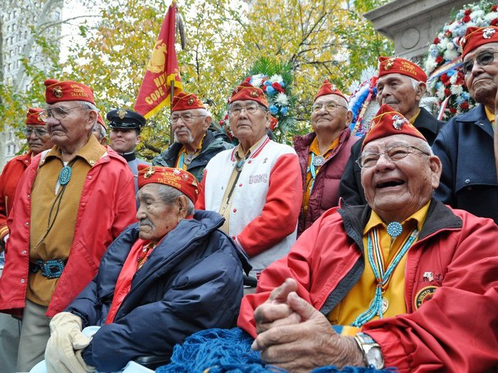 Group of Navajo Code Talkers at the New York Veterans Day parade