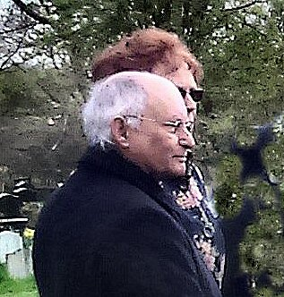 My dear cousin Terry and his wife Diane, 25th April 2016, on the occasion of my mother's funeral when he was a wonderful support to me. He read 23rd psalm and was able to sing well. He served God faithfully and there will surely be fruit from his labours.