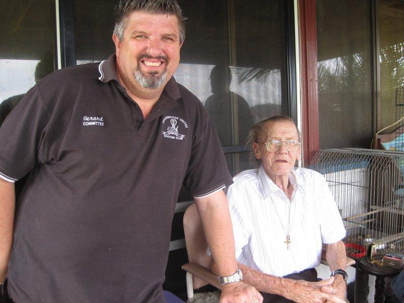 Dad and Gerard Kerr