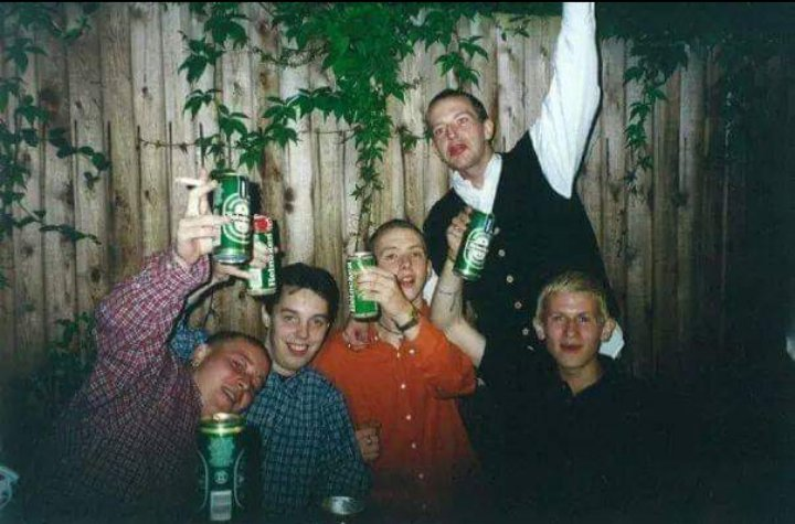 A very Old School phot of us back in well too far to remember. From left to Right Darren , Titch Aaron, Me and Jambo.