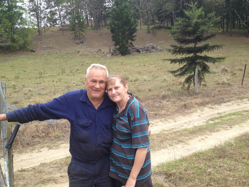 Pop with his daughter Julie at Eungella... where he spent so much time working at the saw mill.
