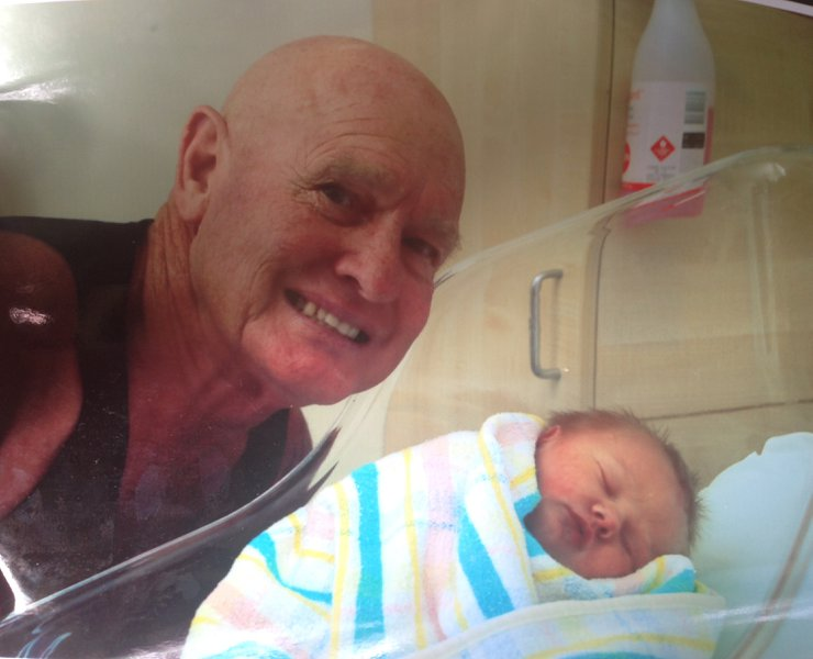 The proudest day of dads life!! Becoming a granddad