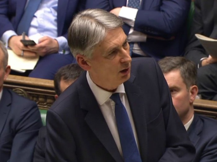Philip Hammond addressing the House of Commons on March 8