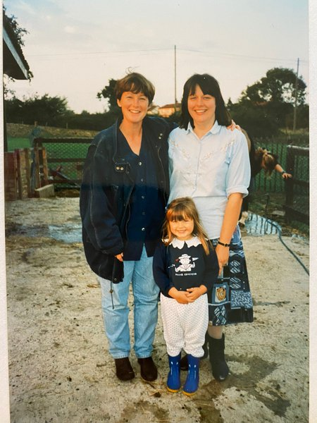 A happy memory of Alison visiting Suffolk with Susanna