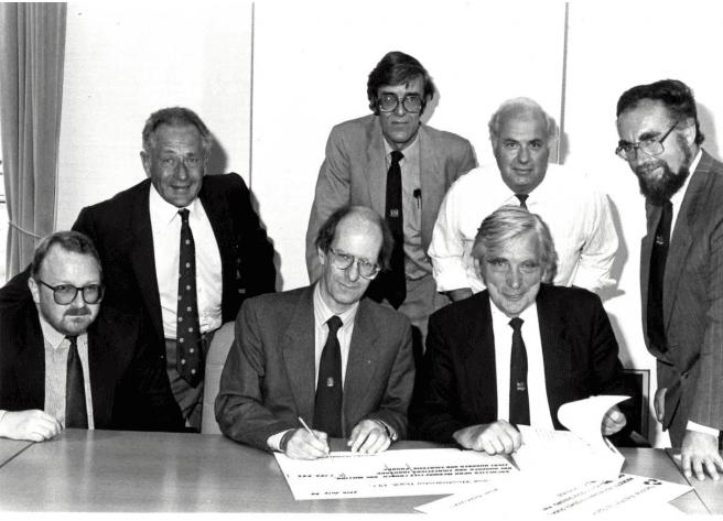 Roger signing landmark loan agreement for mhs homes