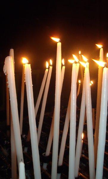 Candles for Mirren in Lourdes
