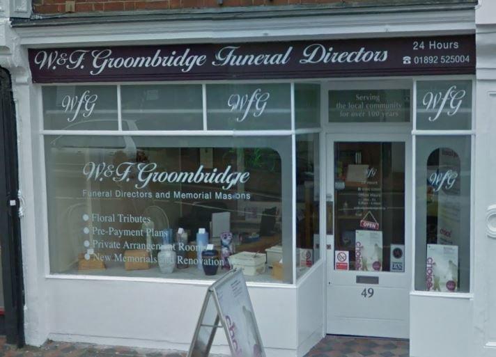 W F Groombridge Funeral Services, Tunbridge Wells