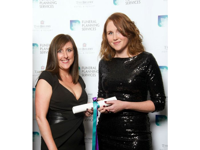 Pictured are funeral directors Michelle Peskett and Katy Ware