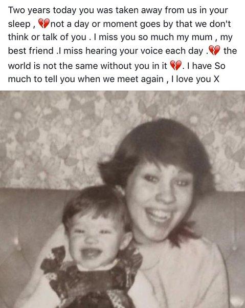 Miss you mum x