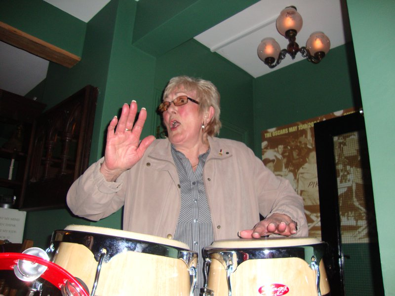 Jean at her best!! She was such fun to be with, always happy. She will be sorely missed. Sending all of you our love and condolences. Pat, Georgina, Hannah, Conor & Emily xx