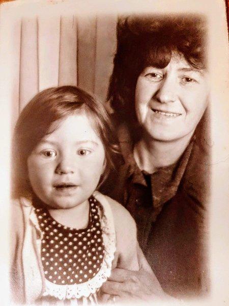 Nan (Bronwen) and my mum (Clare Richards)
