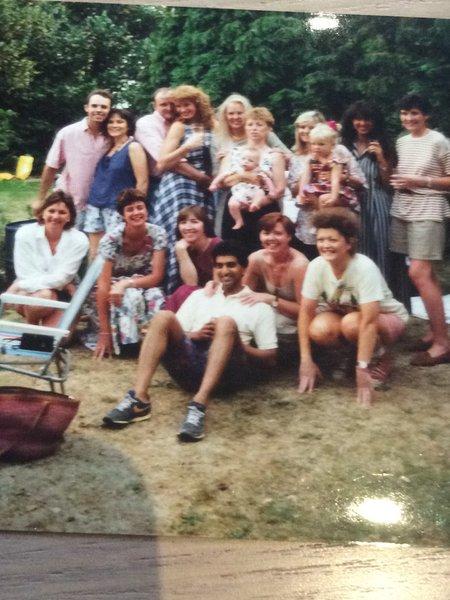 A little reunion of Alia girls  in London around 1995
