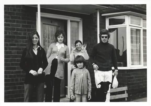 From the left my sisters Sandra R.I.P. Denise, Michelle and Glynis in front with Nev at our Mam's house in Norton on Teesside. I think I took it circa late 60's. R.I.P.Bro.