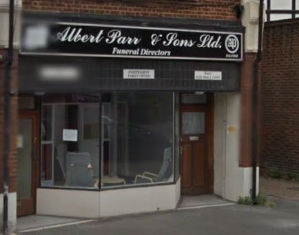 Albert Parr & Sons, London, funeral director in London