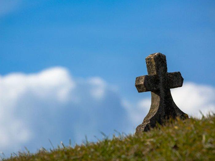 Gravestone in cemetery