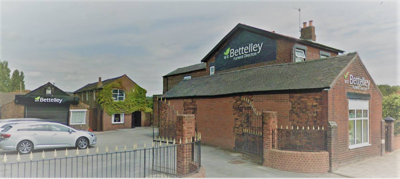 W R Bettelley, Staffordshire, funeral director in Staffordshire