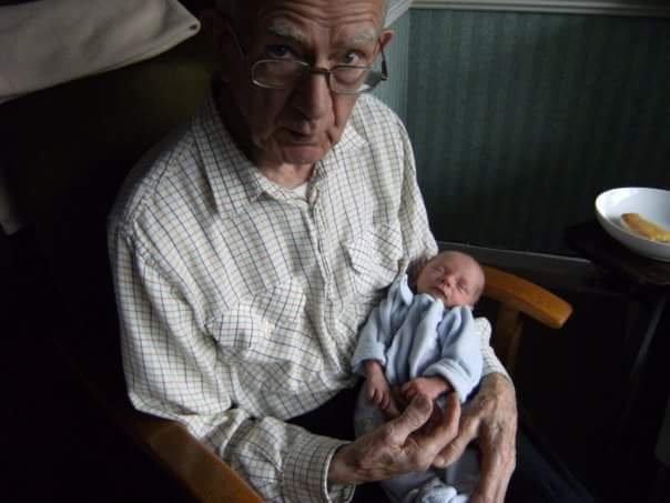 As big as Grandad's hands aww xx
