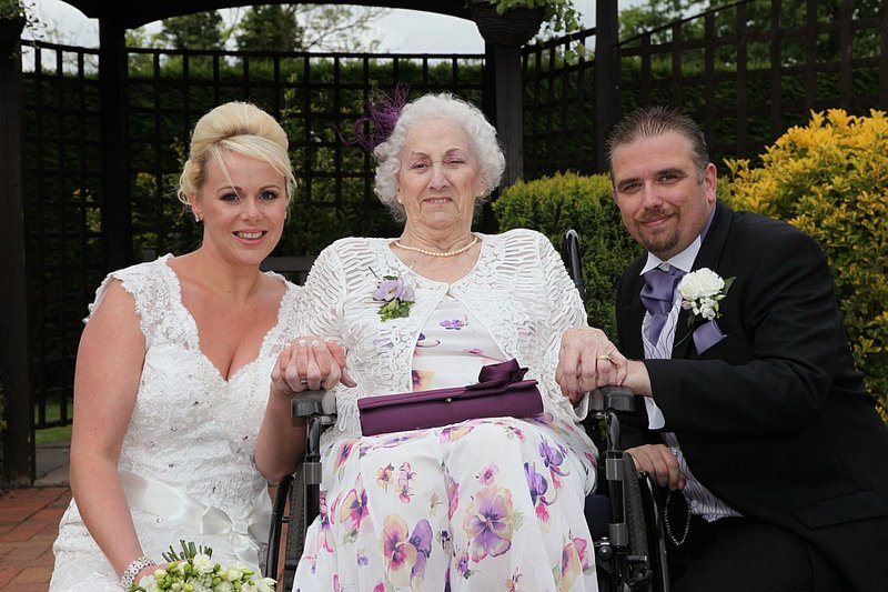 My amazing Nannie on our Wedding day. She was the most beautiful woman in the room that day. Our hearts will be filled with love for her, for the rest of our lives. Your memories will live on in us Nannie.   Love you so much xxx