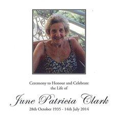 June Patricia Clark