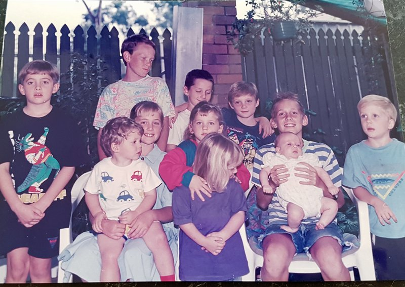 Many years ago with all your Cousins.