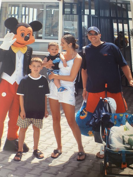 Me, mummy , Taylor and my daddy at water park lanzarote x