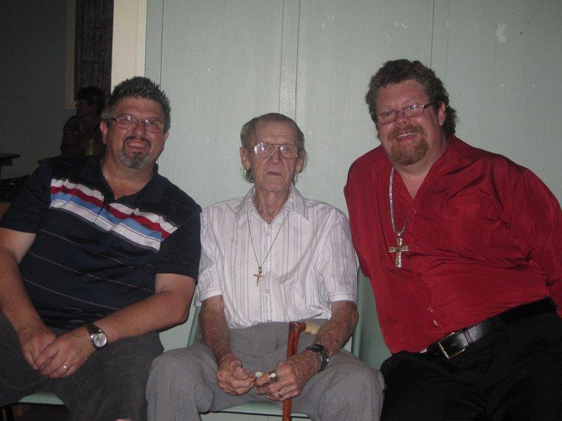 Dad, Gerard Kerr and Josh Powell - Fussell