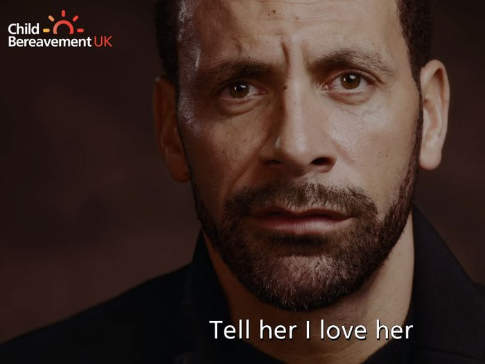 Celebrities including Rio Ferdinand, pictured, have paid emotional tribute to loved ones in Child Bereavement UK's #OneMoreMinute campaign