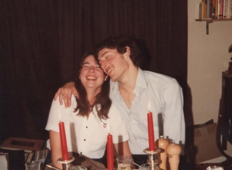 At Peter & Gill's house, somewhere around 1982