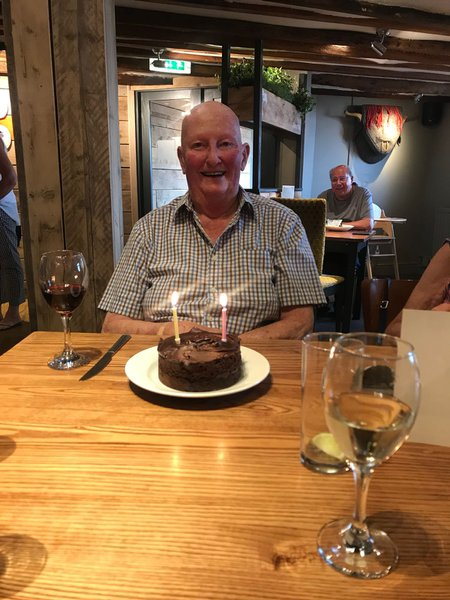 Dad at a birthday meal