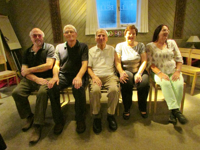 The cousins together with their Uncle Jim to celebrate his 80th birthday. What a cherished photo. xxx