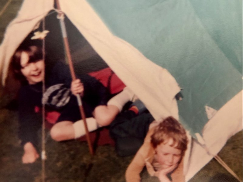 Hours of fun spent 'camping' in the tent at Nanna and Grandad's house 💙 xx