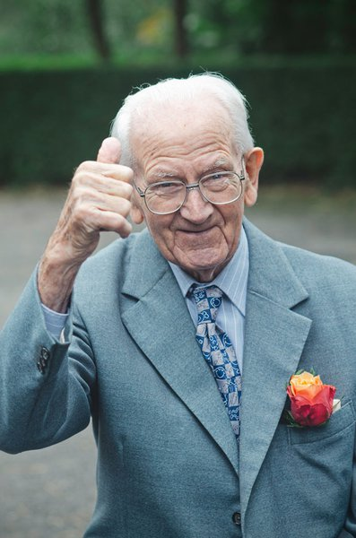 This is Grandad around two years ago. Having a bit  of fun with his Mr Men tie on.