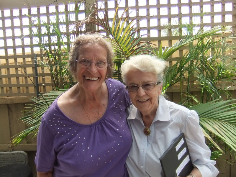very special friends for over 70 years, Margaret and Yvonne