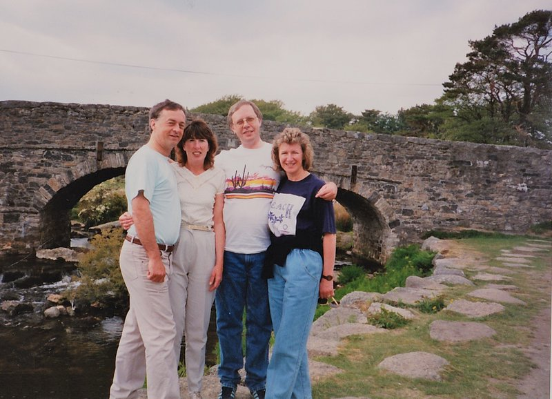 A lovely memory. A day out with Brian and Liz on Dartmoor many many years ago....