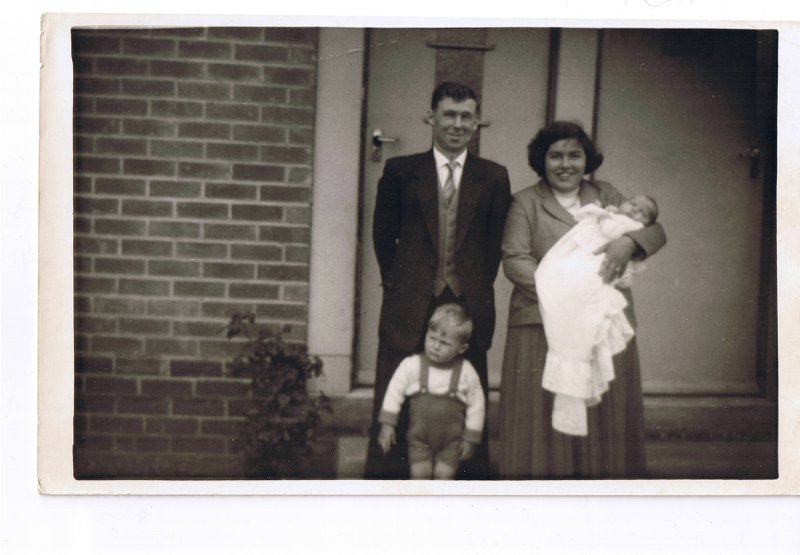 Photo was probably for Ian's christening in 1961