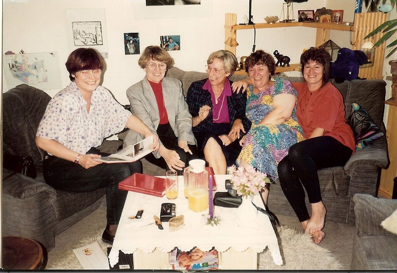 Mum and her sisters . Five sisters  3 continents